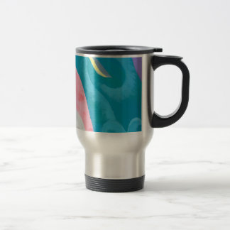 Abstract Ocean Travel Mug