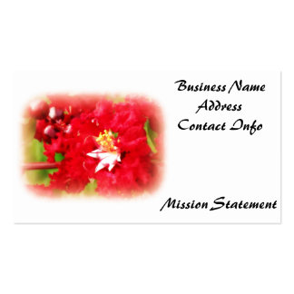 Abstract of a Beautiful Red Myrtle Bush Business Card Template