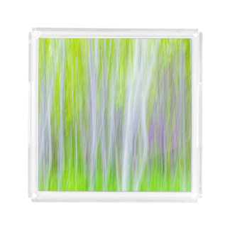 Abstract of Aspen Trees | Yakima River Trail, WA Acrylic Tray