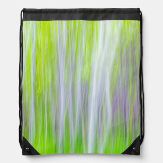 Abstract of Aspen Trees | Yakima River Trail, WA Drawstring Bag