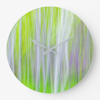 Abstract of Aspen Trees | Yakima River Trail, WA Large Clock