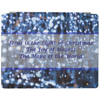 Abstract Of Blue Lights Text iPad Cover