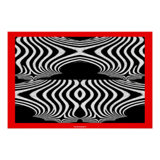 Abstract of Zebra Cool Pattern Stripes Xmas Gift Poster