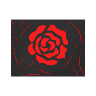 Abstract Oil Painting Floral Rose Canvas
