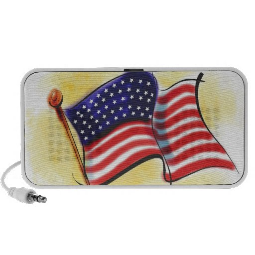 abstract old glory American flag doodle speaker