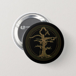 Abstract Old Withered Tree Brown 6 Cm Round Badge