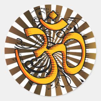 Abstract-om-3 Round Sticker