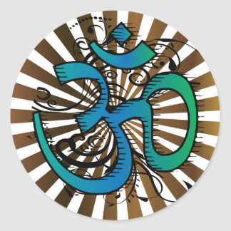 Abstract-om-4 Classic Round Sticker