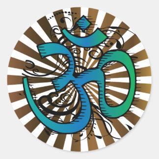 Abstract-om-4 Round Sticker