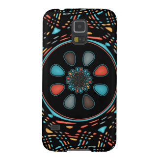 Abstract on black galaxy s5 cover