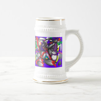 ABSTRACT ONE 18 OZ BEER STEIN