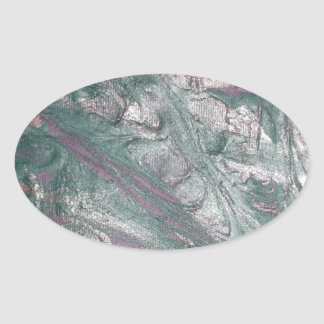 abstract one oval sticker