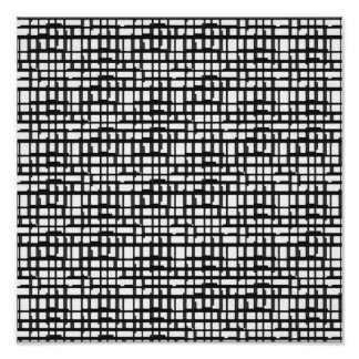 Abstract Optical Grid Canvas Print