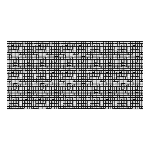 Abstract Optical Grid Poster