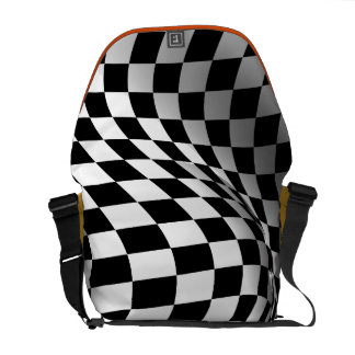 Abstract  Optical Illusion Vector Graphic Courier Bags