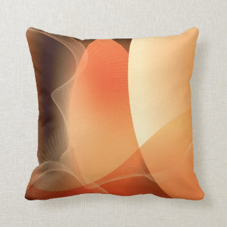 Abstract Orange and Brown Pattern Cushion