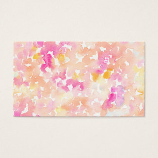 Abstract Orange and Pink Watercolor Gifts Business Card
