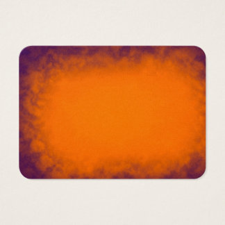 Abstract Orange and Purple Smoke clouds texture Business Card