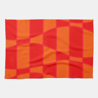 Abstract Orange And Red Background Tea Towel