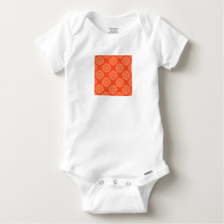 Abstract Orange Baby Onesie