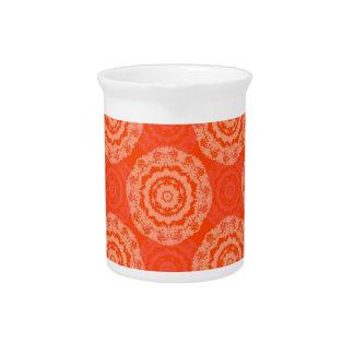 Abstract Orange Beverage Pitchers