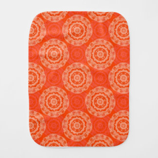 Abstract Orange Burp Cloth