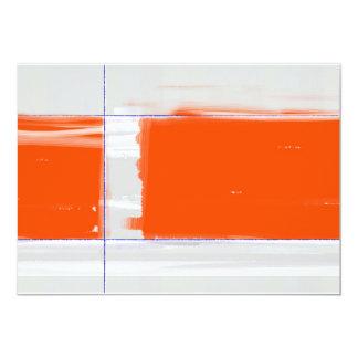 Abstract Orange Card