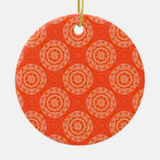 Abstract Orange Ceramic Ornament
