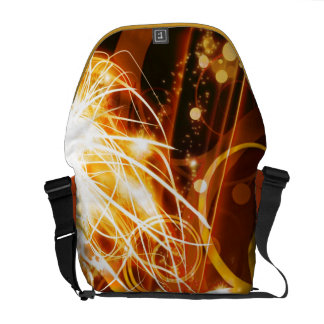Abstract Orange Courier Bags