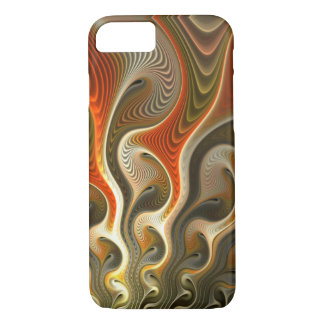 Abstract Orange Flames Set Phasers To Stun iPhone 8/7 Case