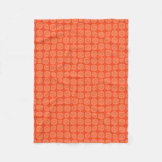 Abstract Orange Fleece Blanket