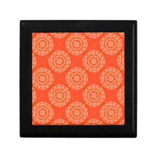Abstract Orange Gift Box