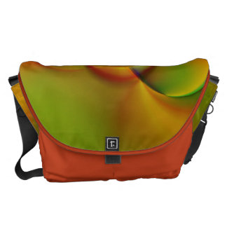 abstract orange green created by Tutti Commuter Bag