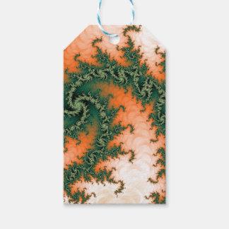 Abstract Orange Green Swirl