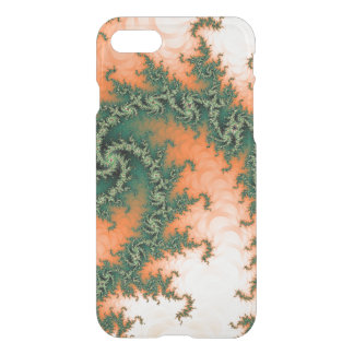 Abstract Orange Green Swirl iPhone 7 Case
