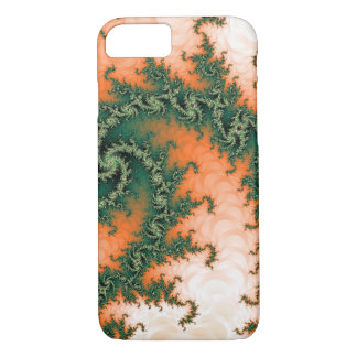 Abstract Orange Green Swirl iPhone 8/7 Case