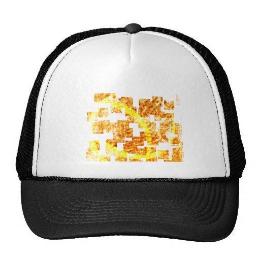 Abstract  orange hats