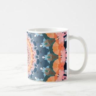 Abstract Orange Mandala Coffee Mug