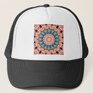 Abstract Orange Mandala Trucker Hat