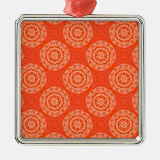 Abstract Orange Metal Ornament