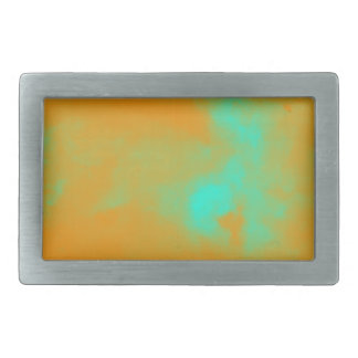 Abstract Orange Nebulla with Galactic Cosmic Cloud Rectangular Belt Buckles