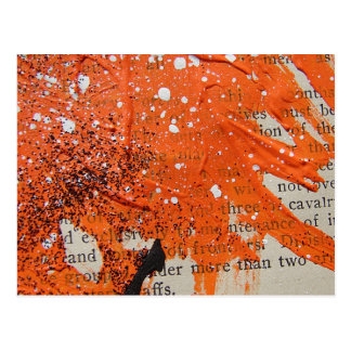 Abstract Orange Paint Postcard