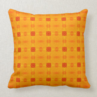 Abstract Orange Pattern Cushion