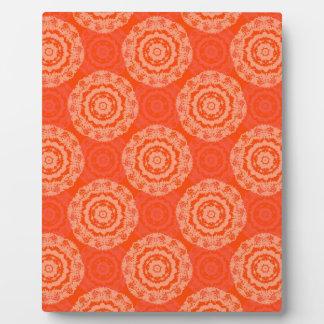 Abstract Orange Plaque