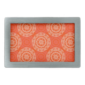 Abstract Orange Rectangular Belt Buckles