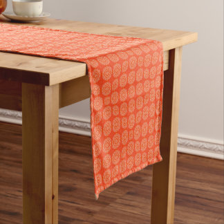 Abstract Orange Short Table Runner