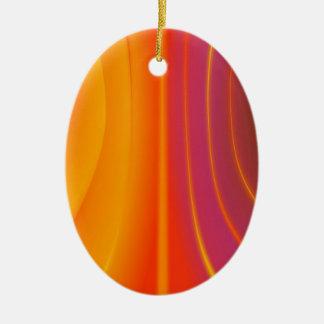 Abstract Orange Swirl Ornament