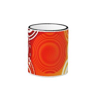 Abstract Orange Swirls Mug