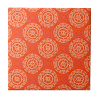 Abstract Orange Tile