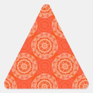 Abstract Orange Triangle Sticker
